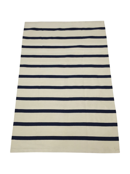 Striped Rug  Navy