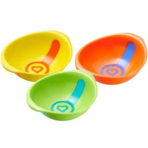 White Hot Toddler Bowls, 3ct
