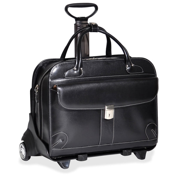 "McKleinUSA 15.4"" Leather Fly-Through™ Checkpoint-Friendly Patented Detachable -Wheeled Ladies' Laptop Briefcase"
