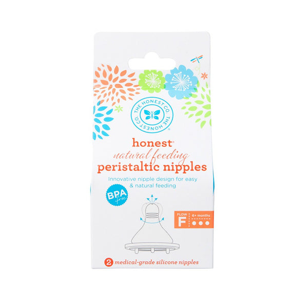 Honest Natural Feeding Peristaltic Nipples Pack of 2