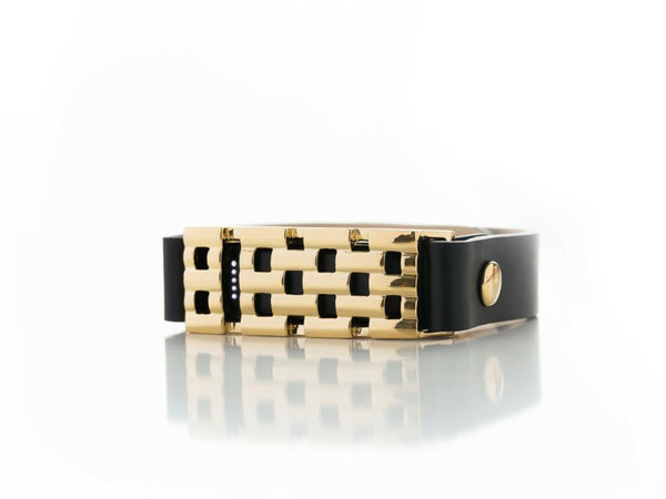 Extended Size Basketweave Bracelet in Gold or Silver