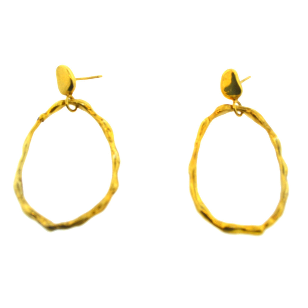 Golden Bamboo Hoops