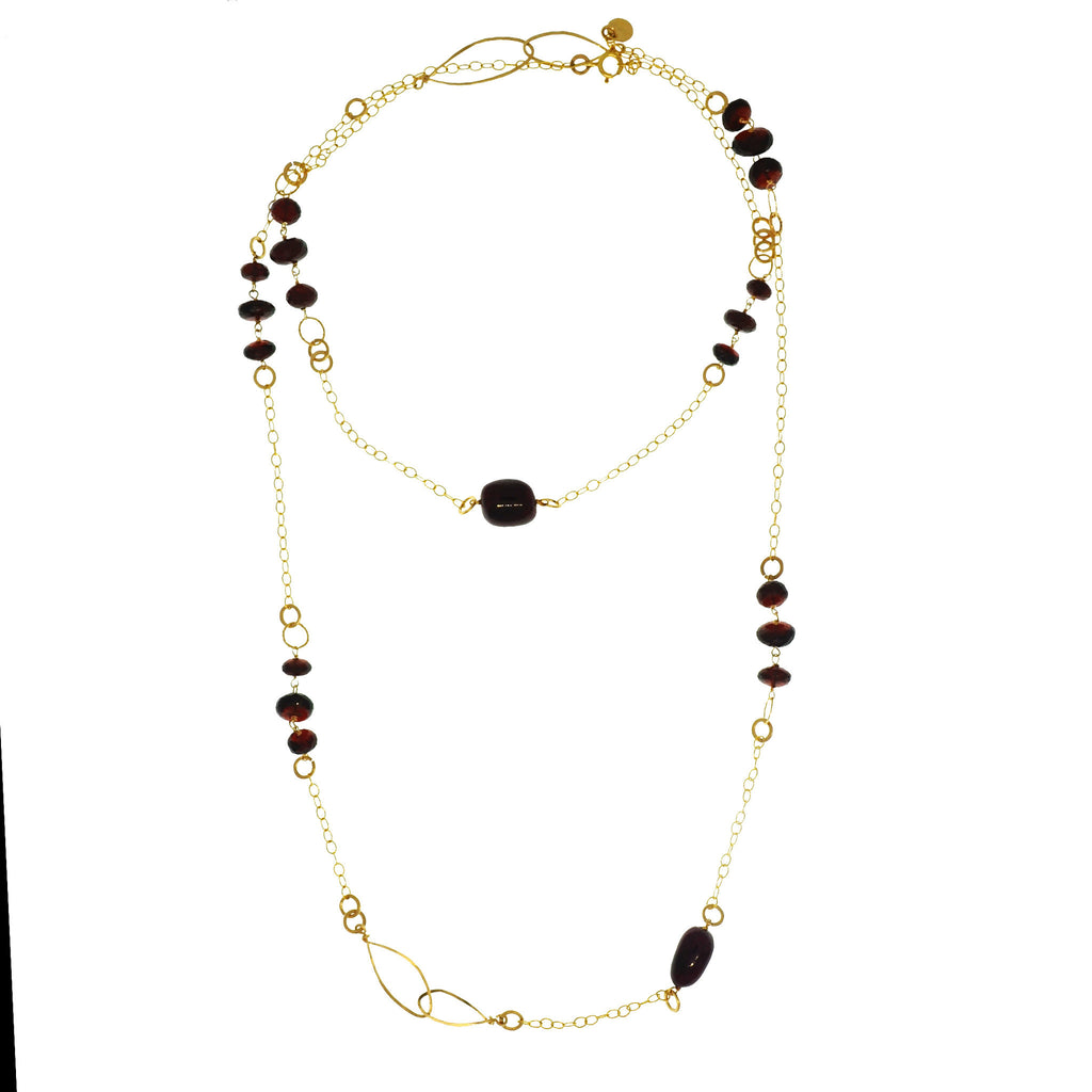 Long Velvet Necklace