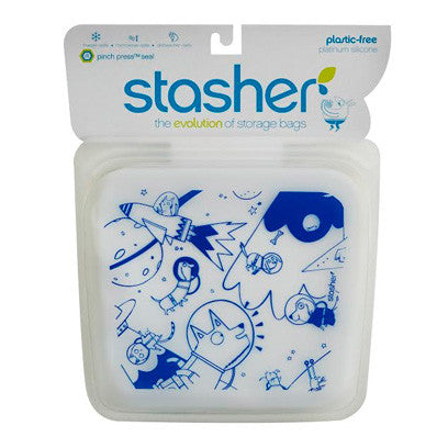 Stasher Storage Bag  Space Animals