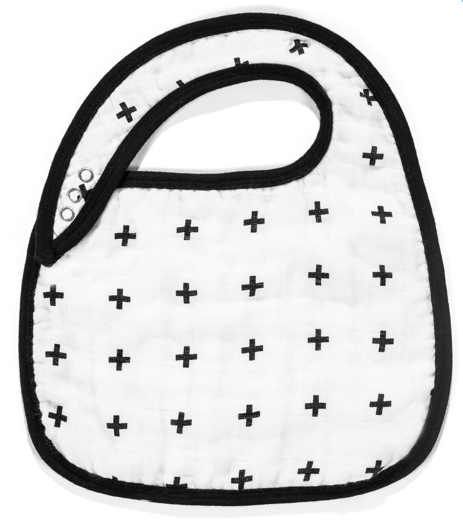 Muslin Bib  Swiss Cross