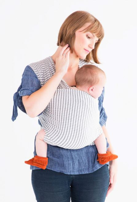 Solly Baby Wrap  Natural and Grey Stripe