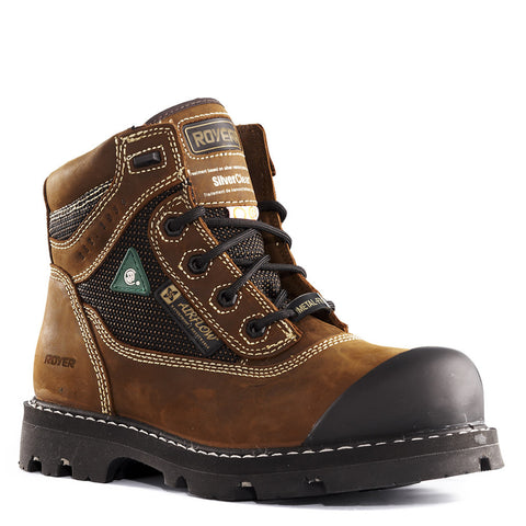 "Royer Men's 6"" Composite Toe Safety Boot - Brown Leather"