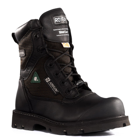 "Royer Men's Black 8"" Nylon Composite Toe Safety Boots"