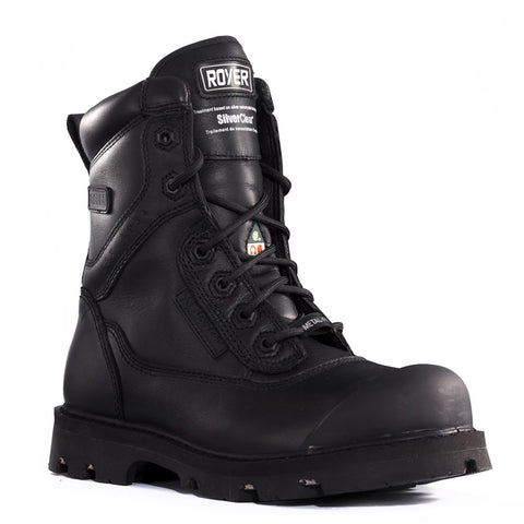 "Royer Men's 8"" Black Leather Composite Toe Safety Boots"