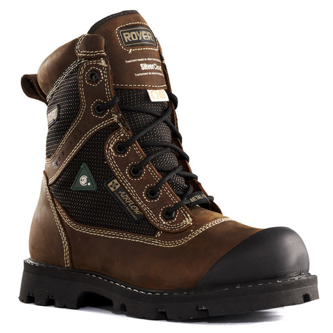 "Royer 8"" Brown Leather Composite Toe Safety Boot"