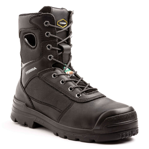 "Terra 8"" Pilot Leather Men's Composite Toe Safety Work Boots"