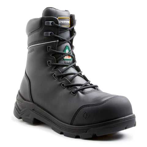 "Terra Men's 8"" VRTX 8000 Composite Toe Work Safety Boot - black"