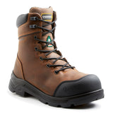 "Terra VRTX 8000 Men's 8"" Composite Toe Work Safety Boots - brown"