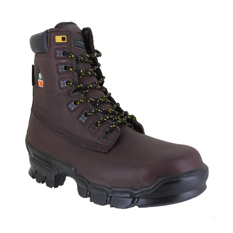 "Terra Turner 8"" Brown Leather Composite Toe Safety Boot"