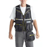Multi Pocket Reflective Mesh Tool Vest