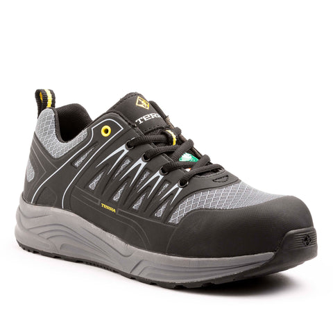 Terra Rebound Men's Athletic Composite Toe Work Shoe - grey