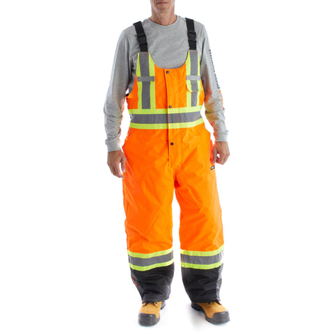 Terra Hi-Vis Insulated Bib Overall - Orange