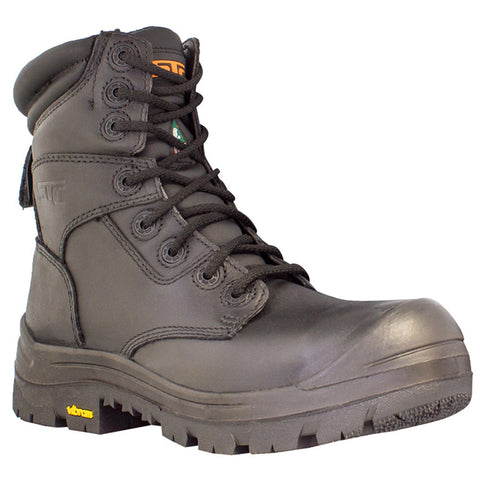 "STC Morgan Men's 8"" Composite Toe Leather Work Boot - black"