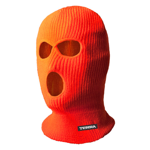 Hi Vis Balaclava 3 Hole - orange