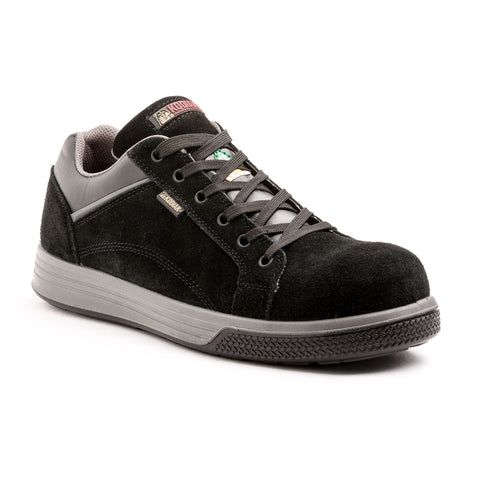 Kodiak Jax Men's Skater Style Suede Composite Toe Work Shoe - black