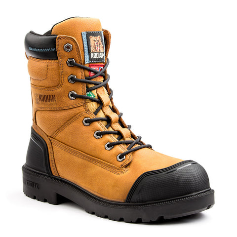 "Kodiak Blue Plus 8"" Men's Aluminum Toe Work Boots - Canyon Brown"