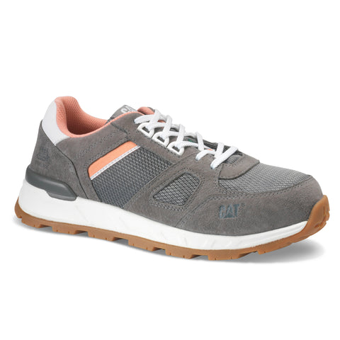 CAT Woodward Women's Steel Toe Work Sneaker - Leather Grey