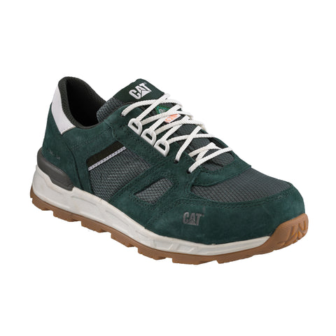 CAT Woodward Women's Steel Toe Work Sneaker - Leather Green