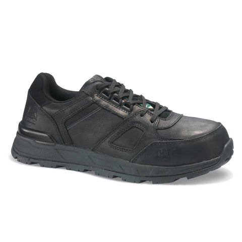 CAT Woodward Women's Steel Toe Work Sneaker - Black Leather