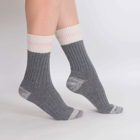 Women's 2PK Wool Blend Work Socks - Pink