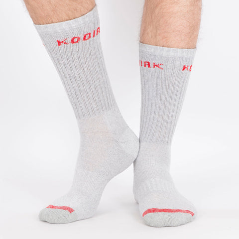 Kodiak Men's 2PK Cotton Crew Sock - Grey