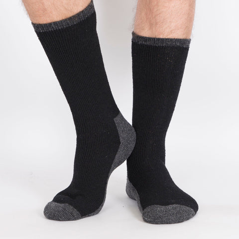 Kodiak Men's 2PK Insulated Wool Blend Socks - Black