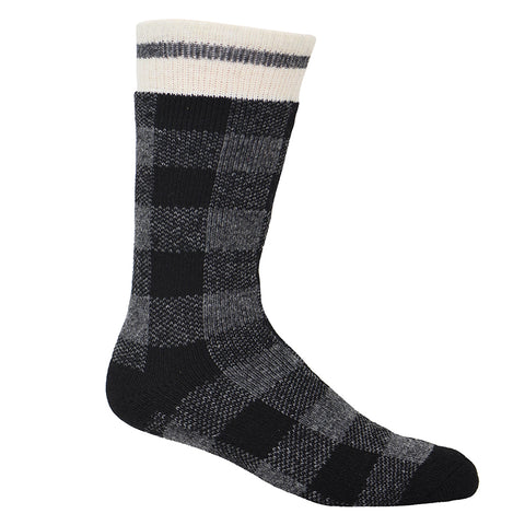 Kodiak Men's Insulated Plaid Sock - grey