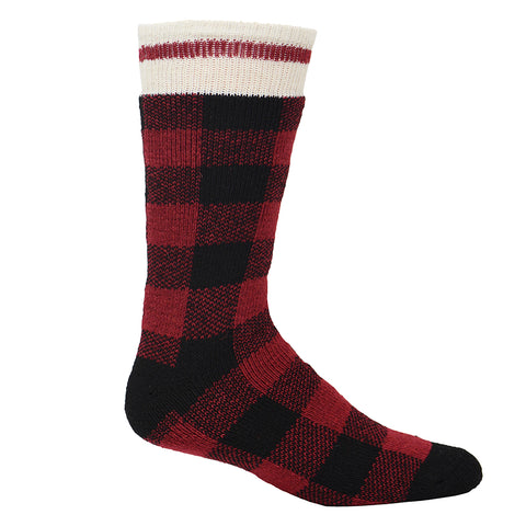 Kodiak Men's Insulated Plaid Sock - red