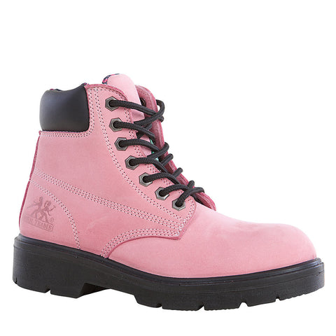 "Moxie Alice Women's 6"" Steel Toe Work Safety Boot - pink"