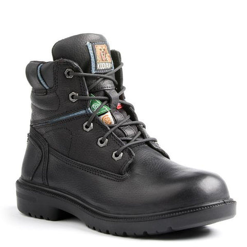 "Kodiak Blue Girls Women's 6"" Aluminum Toe Work Boot - black"