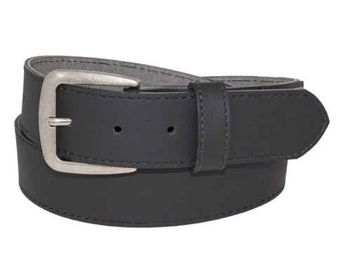 38mm Black Leather Belt
