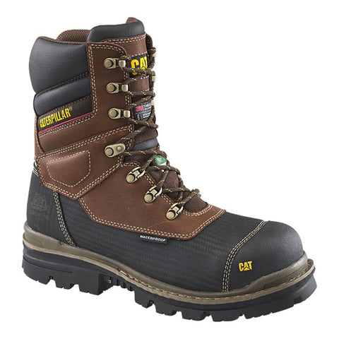 "CAT Men's 8"" Thermostatic Ice Winter Safety Boots with Vibram Arctic Grip"