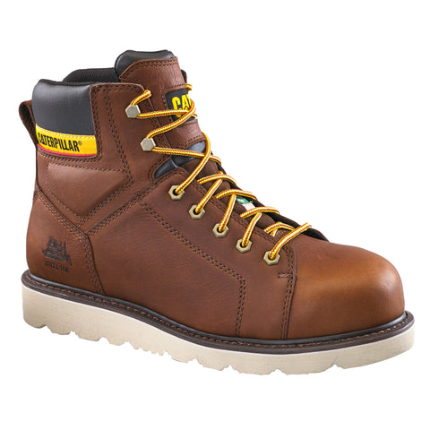 "CAT Journeyman 6"" Steel Toe Work Safety Boot - brown"