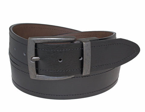 40mm Sewn Reversible w/A. Black Harness buckle