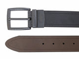 40mm Sewn Reversible w/A. Black Harness buckle - black/brown