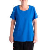 Dickies Xtreme Mock Women's Scrubs Top - blue