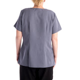 Dickies Xtreme Mock Women's Scrubs Top - grey