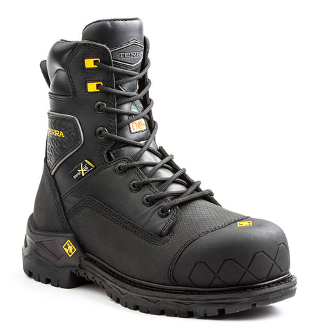 "Terra Sawtooth Met Men's 8"" Composite Toe Waterproof Work Boot"