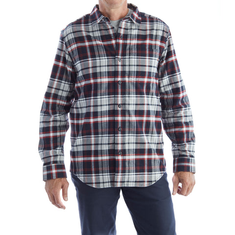 Timberland PRO Long Sleeve Red Plaid Flannel Work Shirt