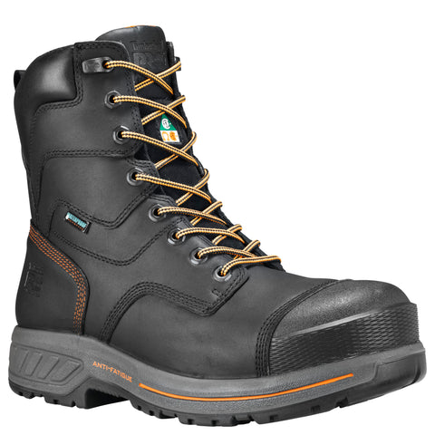 "Timberland PRO 8"" Endurance HD Composite Toe Men's CSA Work Safety Boot - black"