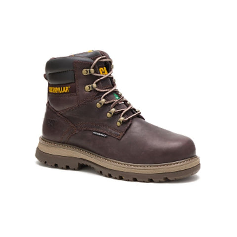 "CAT Fairbanks Men's 6"" Steel Toe Work Safety Boot - BROWN"