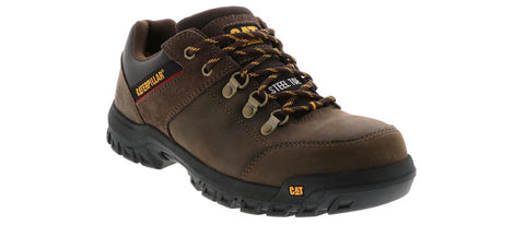 Cat Extension Men's Steel Toe Safety Work Shoes - Brown