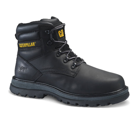 "CAT Fairbanks Men's 6"" Steel Toe Work Safety Boot - Black"