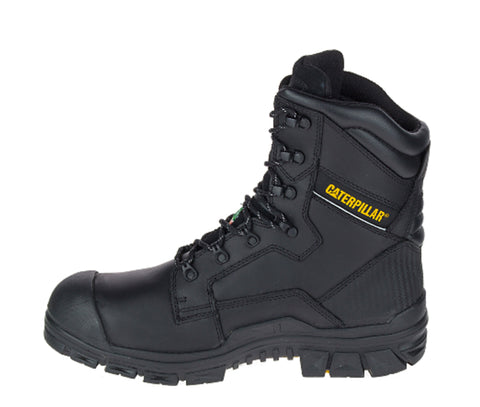 Cat Scaffold Mens 8 Waterproof Composite Toe Safety Boot Black