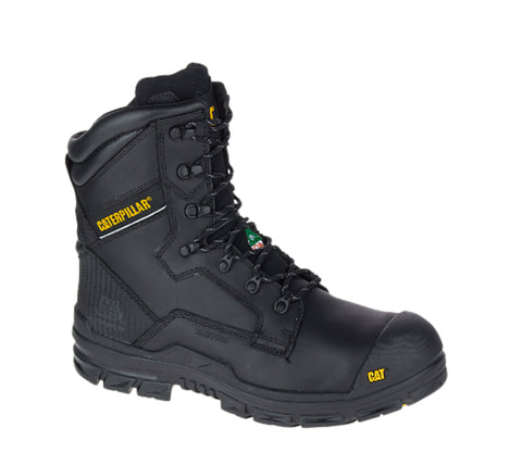 "CAT Scaffold Men's 8"" Waterproof Composite Toe Safety Boot - black"
